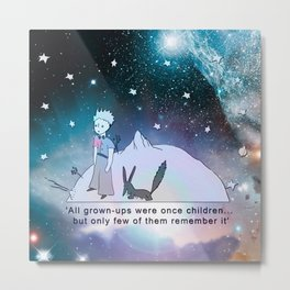 """The Little Prince"" (""Le Petit Prince"") by Antoine de Saint-Exupéry  Metal Print"