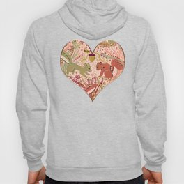 Squirrel in Woodland Fern Forest , Cute Squirrels Love hidden among the Acorn Nuts & Plants Hoody