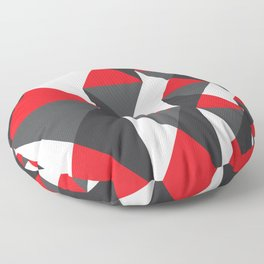 Geometric Pattern #20 (red triangles) Floor Pillow
