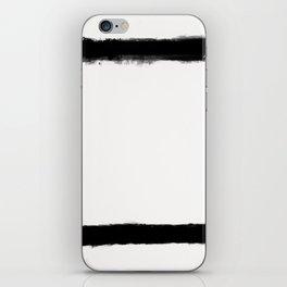 Square Strokes Black on White iPhone Skin