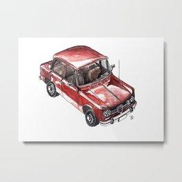 Iconic italian car watercolor painted Metal Print