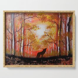Howling Into The Woods Serving Tray