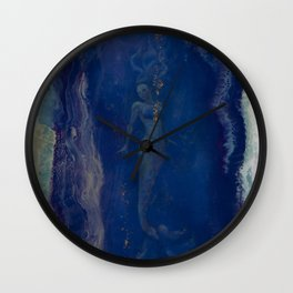 Siren Geode...a calling from the abyss Wall Clock
