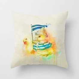 Duck War Throw Pillow