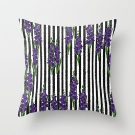 Gladiolus - Birth Month Flower for August Throw Pillow
