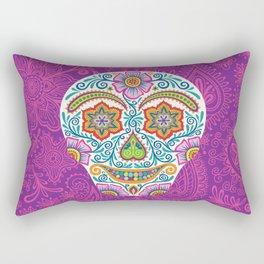 Flower Power Skully Rectangular Pillow