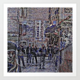 All nearby gentrification effects linger shiftily. Art Print