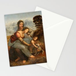 Art by Leonardo Da Vinci Stationery Cards