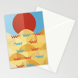 happy snakes making friends Stationery Cards