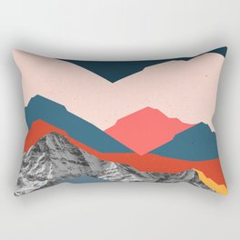 Graphic Mountains X Rectangular Pillow