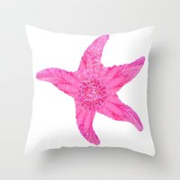 hawaiian Throw Pillows featuring Hawaiian Starfish by Teresa Chipperfield Studios