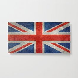 British flag of the UK, retro style Metal Print