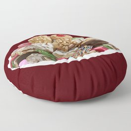 Italian Assorted Colorful Cookie Platter Tray  Floor Pillow