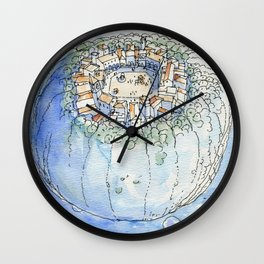 The Planet City Wall Clock