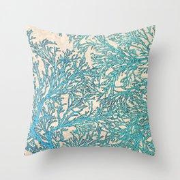 Coral Flow Throw Pillow