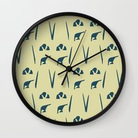 army Wall Clocks featuring Penguin Army by Sarah Jane Jackson