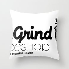 Daily Grind Coffe Shop Throw Pillow