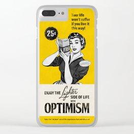 Optimism Clear iPhone Case