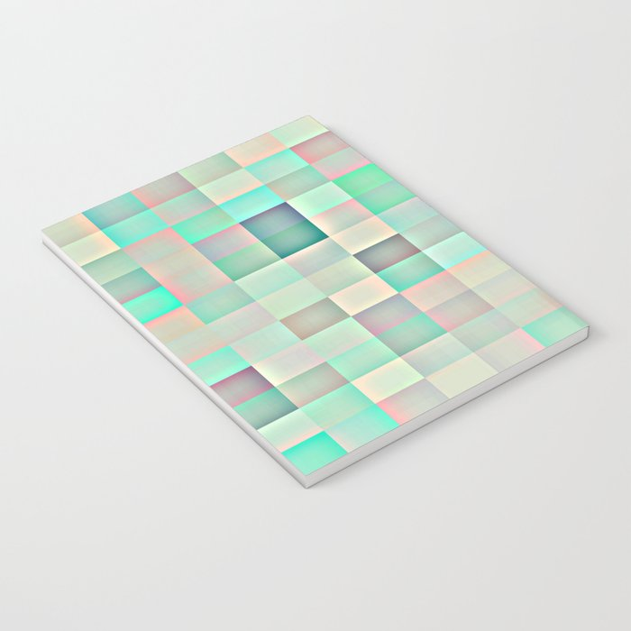 Iridescent Pastel Pixels Notebook