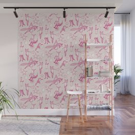 foxy circus pink ivory Wall Mural