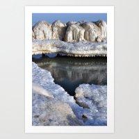 A Winter fortress  Art Print