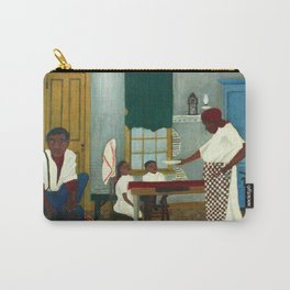 African American Masterpiece 'Saturday Morning Breakfast' by Horace Pippin Carry-All Pouch