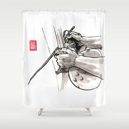"Capoeira 482 ""Berimbau"" Shower Curtain"