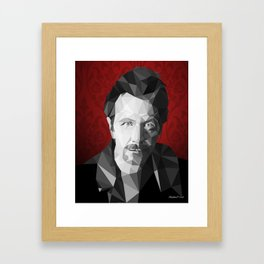 Gary Oldman low poly Framed Art Print