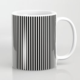 Simple Black & White Licorice Cabana Stripe Coffee Mug