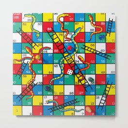 Snakes and ladders Metal Print