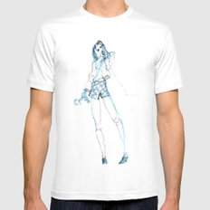 Call Me Mens Fitted Tee SMALL White
