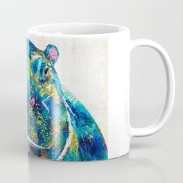 Hippopotamus Art - Happy Hippo - By Sharon Cummings Coffee Mug