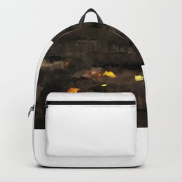 Abstract landscape nature texture lava fire geology digital illustration Backpack