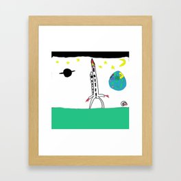 Earth from Space Framed Art Print
