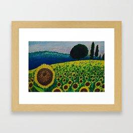 Sunflower Paradise Framed Art Print