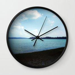 Dark And Light, Lake, Landscape Photography. Wall Clock