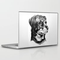 rottweiler Laptop & iPad Skins featuring Rottweiler Devotion by Patricia Howitt