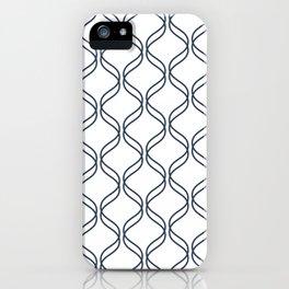 Double Helix - Navy #535 iPhone Case