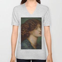 Dante Gabriel Rossetti - Bruna Brunelleschi Unisex V-Neck