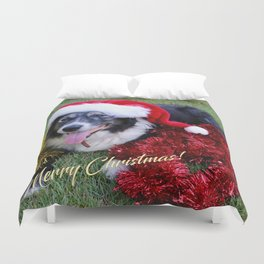 Christmas Wishes From Molly Duvet Cover