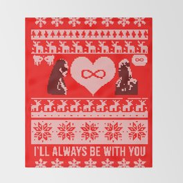 Clexa Christmas Throw Blanket