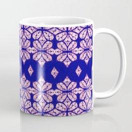 four leaf tie dye floral in purple Coffee Mug