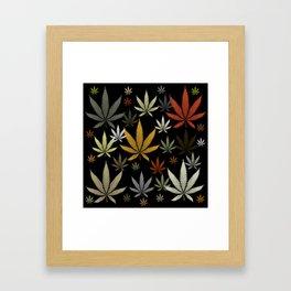 Marijuana Cannabis Weed Pot Leaves Framed Art Print