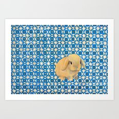 Charlie the Rabbit Art Print