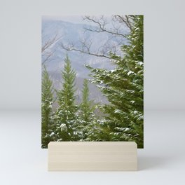 Snowy Day in the Smoky Mountains Mini Art Print