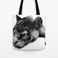 panther Tote Bags featuring Panther by Mark Matlock