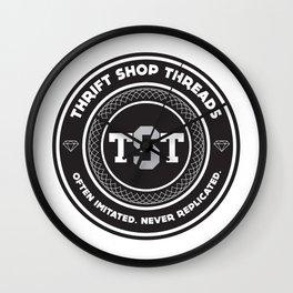 Thrift Shop Threads Button_College Wall Clock