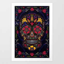 449351af7 Day of the Dead Sugar Skull Art Print
