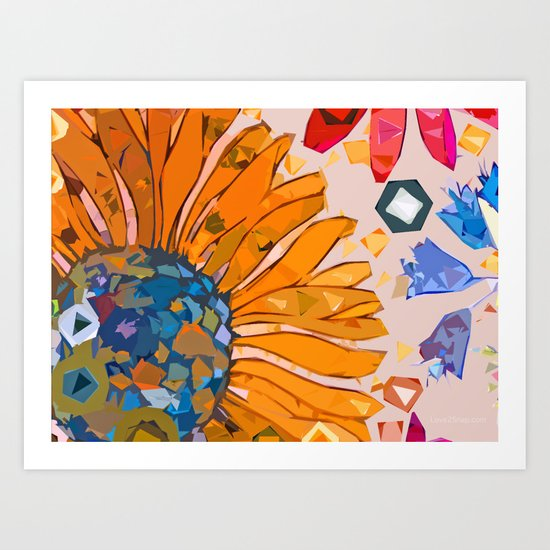 Paint by flower Art Print