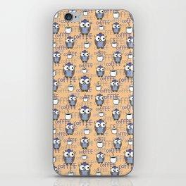 Orange & Blue Owls pattern iPhone Skin